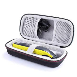 kompakt väska till din philips oneblade trimmer som skyddar den från smuts, stötar, stänk och damm. Perfekt till resor och förvaring