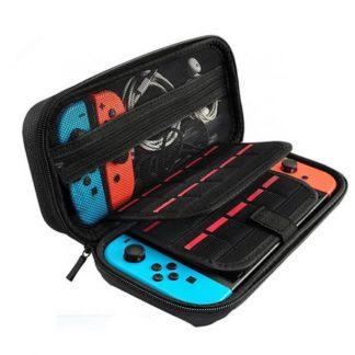 väska, case, till din nintendo switch konsol och kontroller. skyddar den från smuts, stötar, stänk och damm, perfekt för resor och förvaring