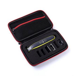 väska, case, till din philips oneblade trimmer som skyddar den från smuts, stötar, stänk och damm. Perfekt till resor och förvaring