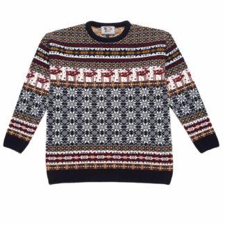 Vacker tröja för barn som kan användas hela vintern med motiv inspirerat av klassiska nordiska stickmönster.