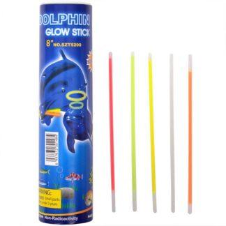 Glowsticks, eller lysstavar, som lyser upp festen i flera timmar. Med fästen så att du kan göra armband och halsband