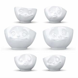 skålar i porslin med känslor, varje skål med ett känslouttryck, rymmer 500 ml