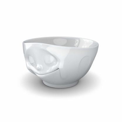 vit skål med känsla i porslin med ett drömmande uttryck, rymmer 500 ml