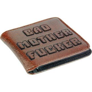Plånbok med motiv från Pulp Fiction och texten Bad Mother Fucker