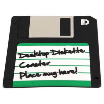 retro glasunderlägg i form av en floppy diskett