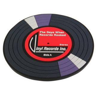 pvc glasunderlägg med retro motiv av en vinyl skiva