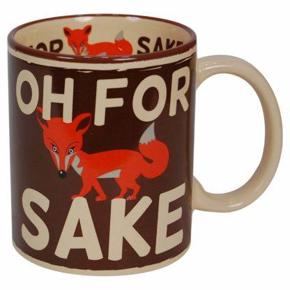 mugg med en räv och texten oh for fox sake