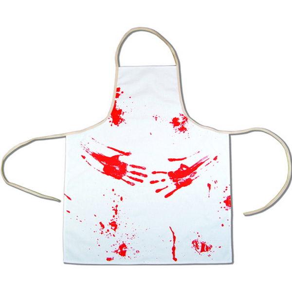 blodigt förkläde för till exempel halloween