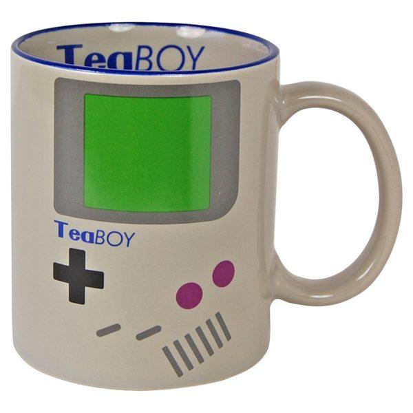 mugg med nintendo gameboy-liknande motiv
