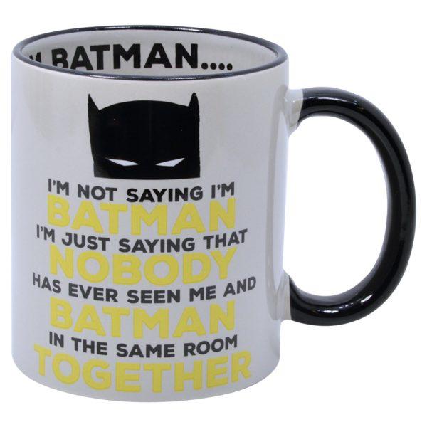 mugg med batmans huvud och texten im not saying im batman