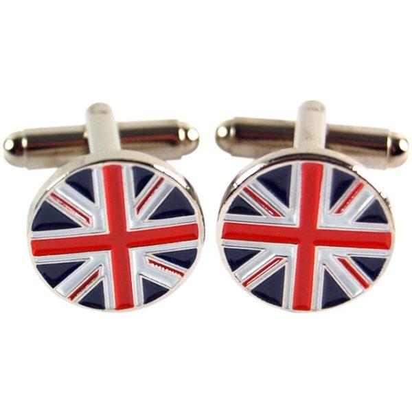 Manschettknappar med den brittiska flaggan - union jack