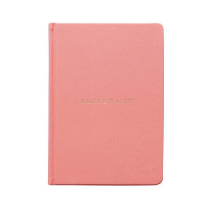bucket list, dagbok där du listar 100 saker att göra innan du dör