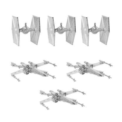 star wars juldekoration, 6 stycken tie fighters och x wings för att hänga i granen som julgranskulor