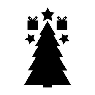 Julgran, presenter och stjärnor av självhäftande griffel papper som barnen kan rita på