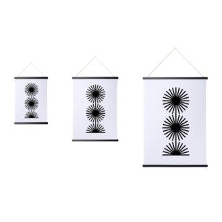 svart magnetisk tavelram, affischlist, enkelt att sätta upp, flytta, byta poster eller ritning