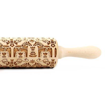 mönstrad kavel med dalahäst motiv, finns i två storlekar