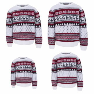 paket med matchande jultröjor till hela familjen i klassiskt fair isle mönster